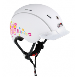 Casco casque Mini-Generation Butterfly white