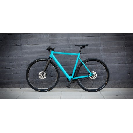 Vélo électrique Desiknio Urban Single Speed Bleu