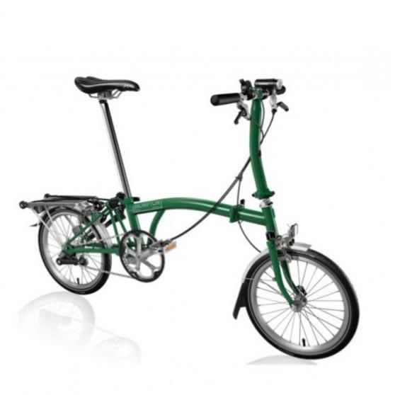 Vélo pliant Brompton type S 6 vitesses lime green