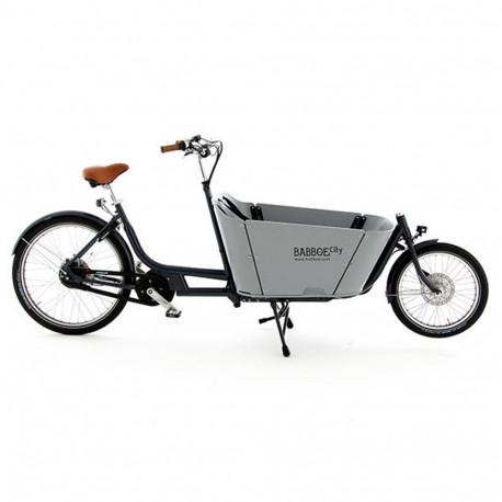 Vélo cargo électrique Babboe City Mountain gris