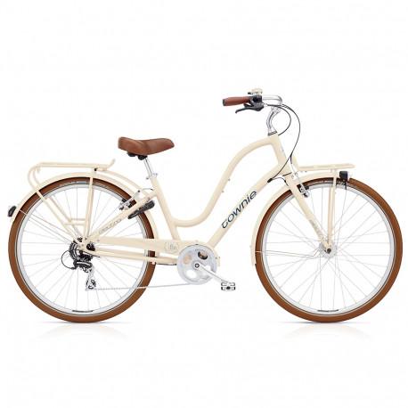 Vélo de ville Electra Townie Commute femme beige