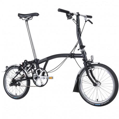 Vélo pliant Brompton type S 3 vitesses lime green