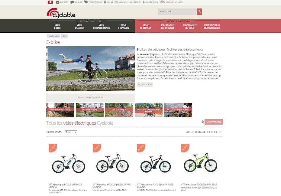 Cyclable.ch : un nouveau site internet