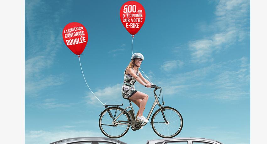 Cyclable double la subvention cantonale pour l'achat de vélo électrique